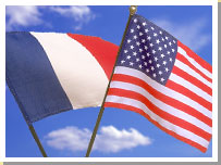 USA French Flags