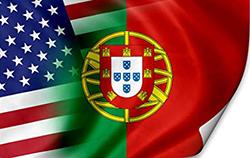 USA Port flags w corner curl